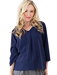 Sweet Mommy Maternity and Nursing Front Tuck Bell Sleeve Blouse