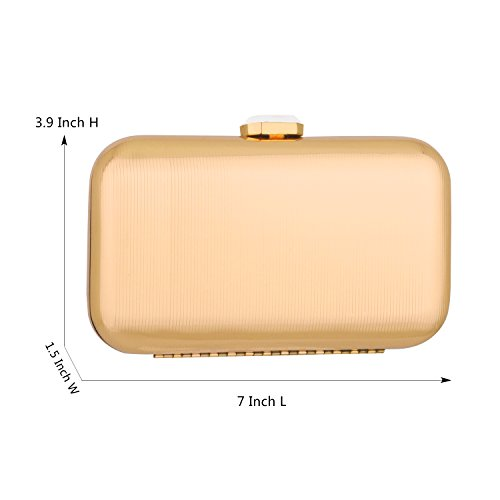 Handbags party Bags Evening Wedding Women Gold Prom Metal Purse Purse Bags Bags Light �C Clutch Bridal For Clutch vqCOx85w