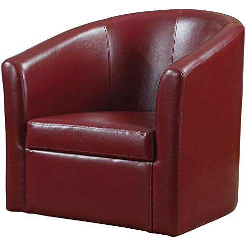 Swivel Barrel Chair - Accent Swivel Chair Red