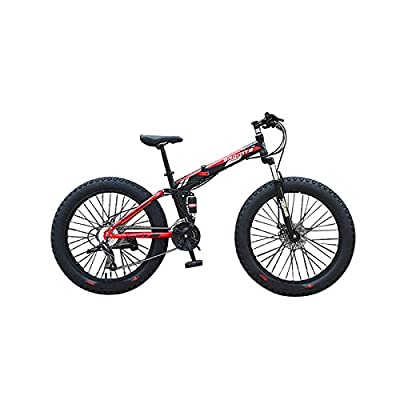 Omeng ATV transmission damping snow bike beach bicycle folding double disc mountain bike wheel 26 inch 4.0 fat tires(21 speed)