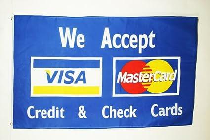 Amazon.com: Visa MasterCard Bandera 3 x 5 – Tarjeta de ...