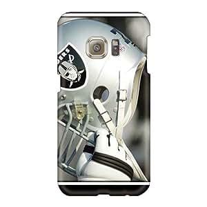 Samsung Galaxy S6 GyO1717XLOt Customized HD Oakland Raiders Skin Scratch Resistant Hard Cell-phone Cases -ZabrinaMcVeigh