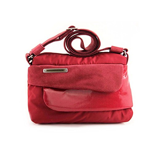 Mujer Rot Cruzados Bolso De Rosso Cuero Duck Mandarina Para x0wFzq4YB