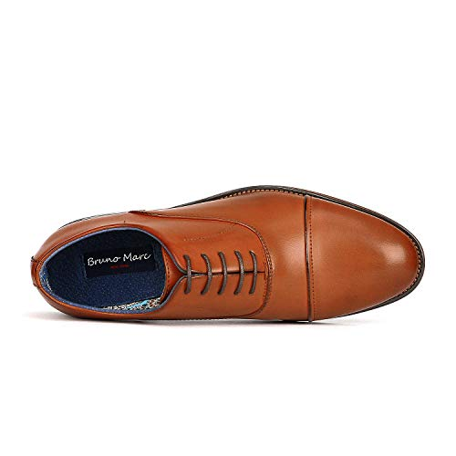 Hombre De 2 marrón Bruno Zapatos Para Oxford Formales Marc CTtnxYxwqP