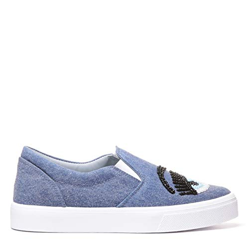 Cf1552jeans Chaussures Femme Ferragni Skate Bleu Coton Chiara De 7qXpExwRR