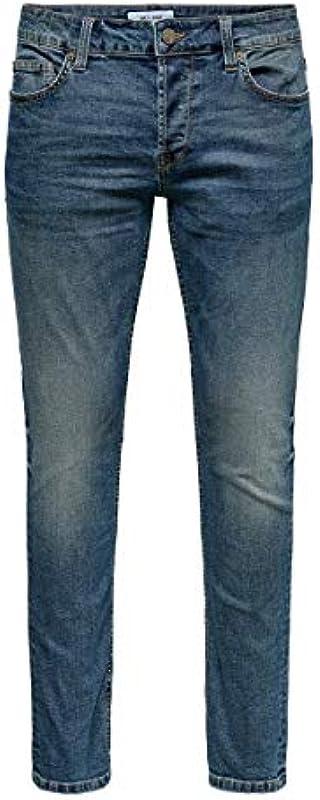 ONLY & SONS męskie dżinsy Slim Fit ONSLoom Life Blue: Odzież