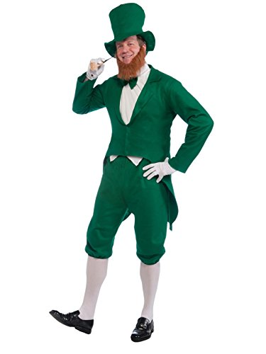 (Forum Novelties Men's Adult Leprechaun Costume, Green/White, One)