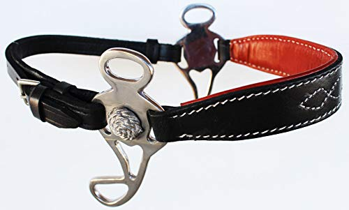 - PRORIDER Horse Saddle Black Adjustable Leather Bitless English Western Hackamore 35H16