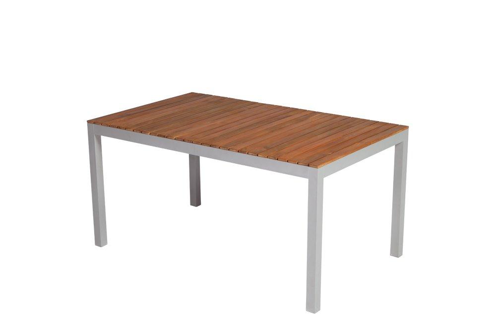 Tisch NAXOS 150x90cm, Alu + Akazie geölt, FSC®-zertifiziert