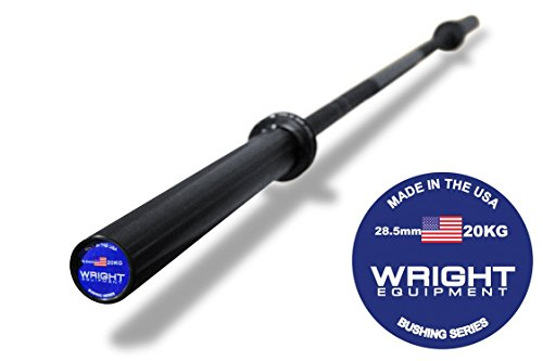 20kg Olympic Barbell Black-Black by Wright Equipment
