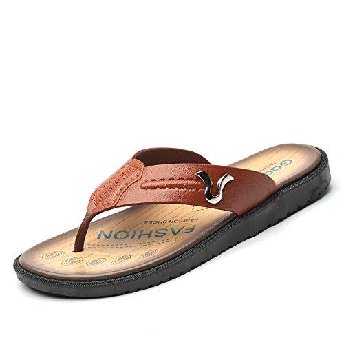 Komfortabel, Einfach, Mode, Freizeit, Antiskid Sommer Männer Beach Sandals,Gelb,Eu42