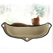 "EZ Mount Window Bed Kitty Sill ,Khaki(27"" x 11"")"