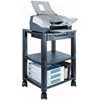 Kantek : Three-Shelf Printer Stand with Drawer, 17 x 13-1/4 x 24-1/2, Black -:- Sold as 2 Packs of - 1 - / - Total of 2 Each