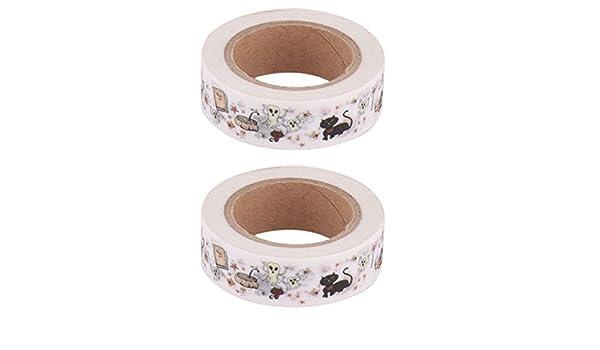 Amazon.com: eDealMax calabaza Imprimir Escuela de escritorio caja de cartón del Rollo de Cinta de Washi decoración 2pcs Naranja: Health & Personal Care