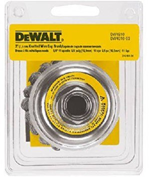 Dewalt  DW4910 5 Pack 3-Inch by 5/8-Inch-11 Knotted Cup Brush/Carbon Steel .020-Inch