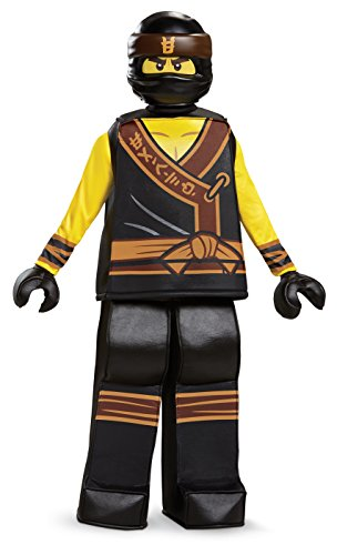 Disguise Cole Lego Ninjago Movie Prestige Costume, Yellow/Black, Small (4-6)]()