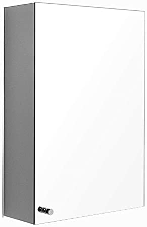 Armarios con espejo Pared del Baño Acero Inoxidable De Una Sola Puerta Que Cuelga La Luz del Gabinete De Almacenamiento De Puerta Corredera De Armario Multifuncional: Amazon.es: Hogar