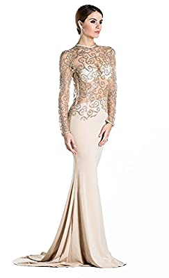 Missord Women's O Neck Long Sleeve Bodycon Maxi Dress for Prom