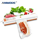 ANIMORE Household Vacuum Food Sealer US-110V/EU-220V Packaging Machine Film Sealer Vacuum Packer Including 10 Pcs Bags VFS-02C