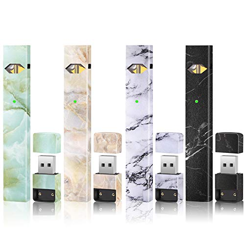Skin|Sticker|Wrap|Decal Compatible with JUUL(4 Different Marble Style)(4  Pack)(No Device Included) Accessories Fit for JUUL