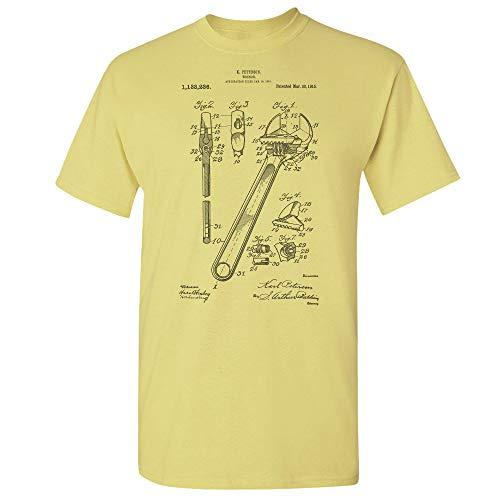 Crescent Wrench T-Shirt, Handyman Gift, Auto Mechanic, Workshop, Repair Shop, Repairman, Vintage Tools, Gearhead Cornsilk (Medium) (Craftsman 3 8 Torque Wrench Inch Pounds)