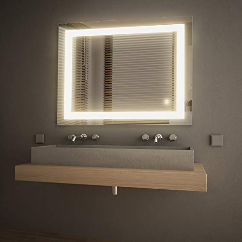 GETINLIGHT LED Wall Mounted Lighted Vanity Mirror, 3000K(Soft White), ETL Listed, Damp -