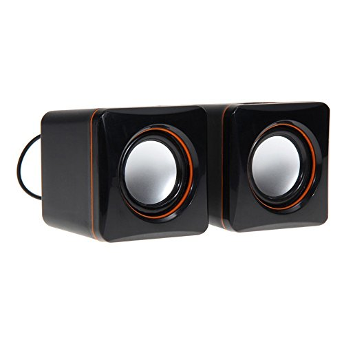 Price comparison product image Yingealy Great Fun Gift Computer Speaker, Desktop Computer Speakers Wired Superb Stereo Audio,  AC Powered 3.5mm / RCA Multimedia External Speakers for Laptop,  Mac,  TV