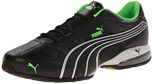 PUMA Men's Cell Surin Training Shoe, Black/PUMA Silver/Fluorescent Green, 7.5 M US