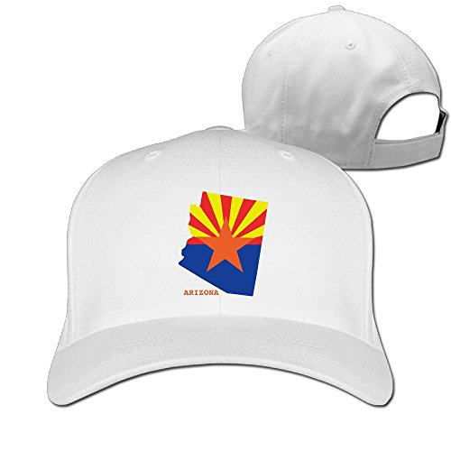 Arizona White Sport Hat (OCPEK America Arizona Flag Map Caps Flat-Along Unisex Sports Trucker Hat)