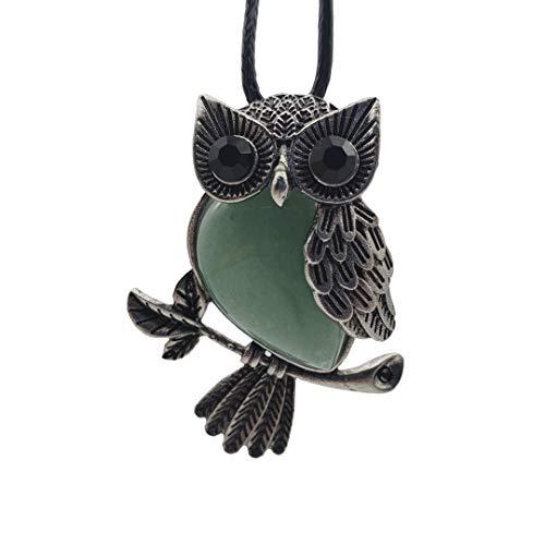 SICHENDZ Owl Necklace Healing Pendant Nekclace for Women
