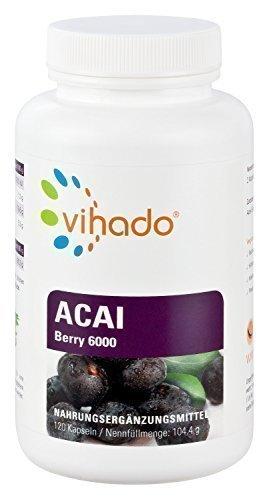 Vihado Acai Berry MAX 6000 Premium - Original Acai Beeren, 120 Kapseln