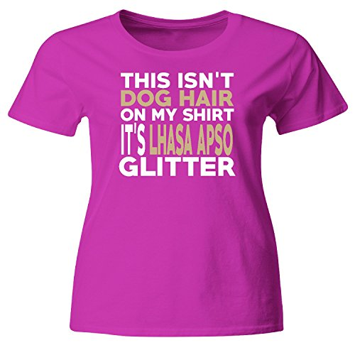 Not Hair Lhasa Apso Glitter Funny Dog Lover T-Shirt (Lhasa Apso Hair)