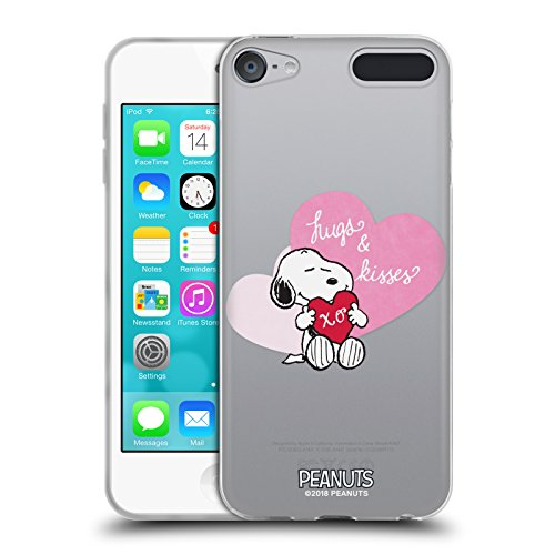 (Official Peanuts Snoopy Hugs and Kisses Sealed with A Kiss Soft Gel Case for Apple iPod Touch 6G 6th Gen)