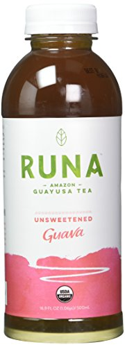 Runa Clean Energy Organic Guayusa Iced Tea  Unsweetened Guava  16 9 Ounce  Pack Of 12