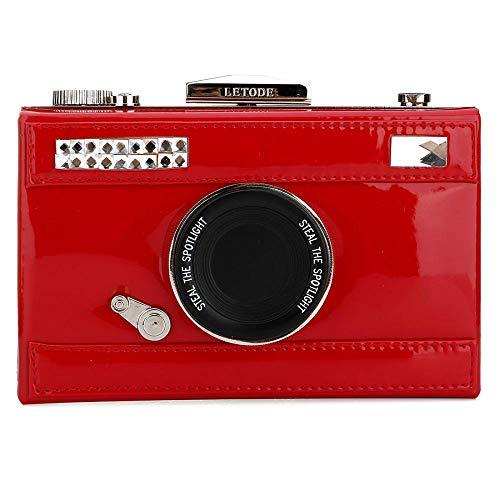 Camera Camera Purse Womens Cross Red Shoulder Design Film Snapshot Bag Handbag body Casual Shaped PU TEfPfqwH