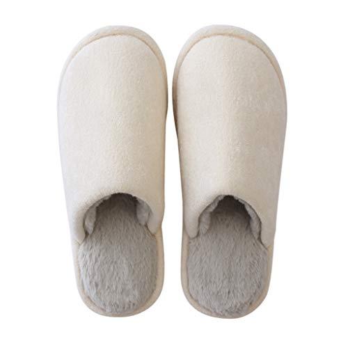 Scarpe Donne colore Spesse Con Domestico Coppie Yanq Suole Invernali Beige Interno Dimensioni Pantofole Di Uomini Cotone Per Home Calde Uso Beige E Furry 27cm xwpZ8qP