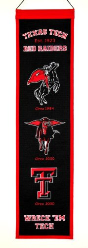 NCAA Texas Tech Red Raiders Heritage Banner
