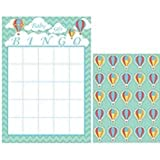 Club Pack of 60 Up, Up and Away Mint Green and Coral Baby Shower Bingo Game