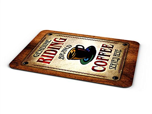 Riding Coffee Mousepad/Desk Valet/Coffee Station Mat