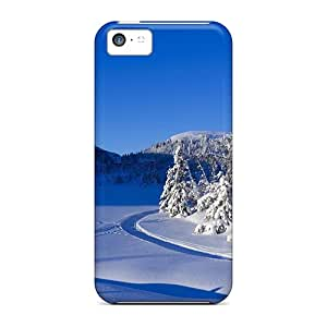 Awesome Snowy Winter Flip Cases With Fashion Design For Iphone 5c