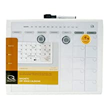 Quartet 1 Month Calendar and Magnetic Dry Erase Whiteboard, Plastic Frame, Colors May Vary (MHOP1114)