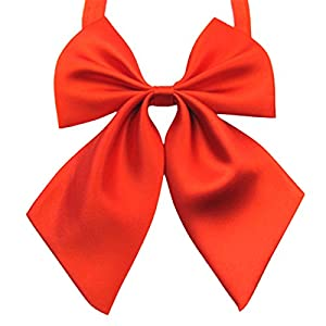 FEOYA Lady Adjustable Pre-tied Bow Tie Collection Solid Color Bowties for Women