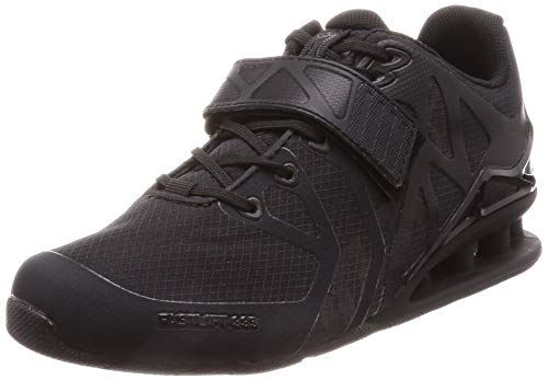 Inov-8 Womens Fastlift 335 - Powerlifting Weight Lifting Shoes - Wide Toe Box - Perfect for Squatting and Benching - Black/Black 7 W US