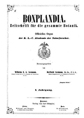 - Bonplandia. Zeitschrift fr die gesammte Botanik (German Edition)