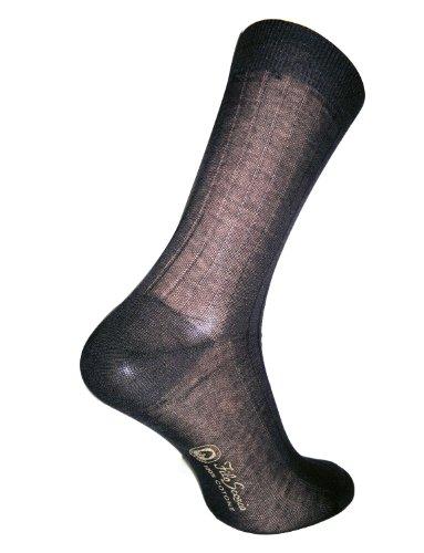 Daniel Jacob Men's 12 100% Cotton Socks Striped 8-9 (UK) 42-43 (EU) 9-10 (US) Black by Daniel Jacob