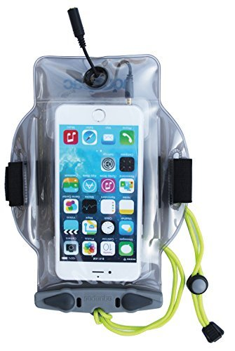 (Aquapac MP-3 519 Phone Case with Earphone Hole, Transparent Grey, 23x 17x 2.5cm, 0.02L by)