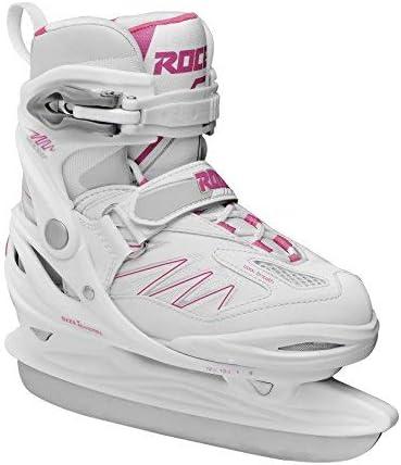 Roces Moody Ice 2.0ガールアジャスタブルアイススケート、子供、450700、ホワイト - フクシア、36-40 [並行輸入品]