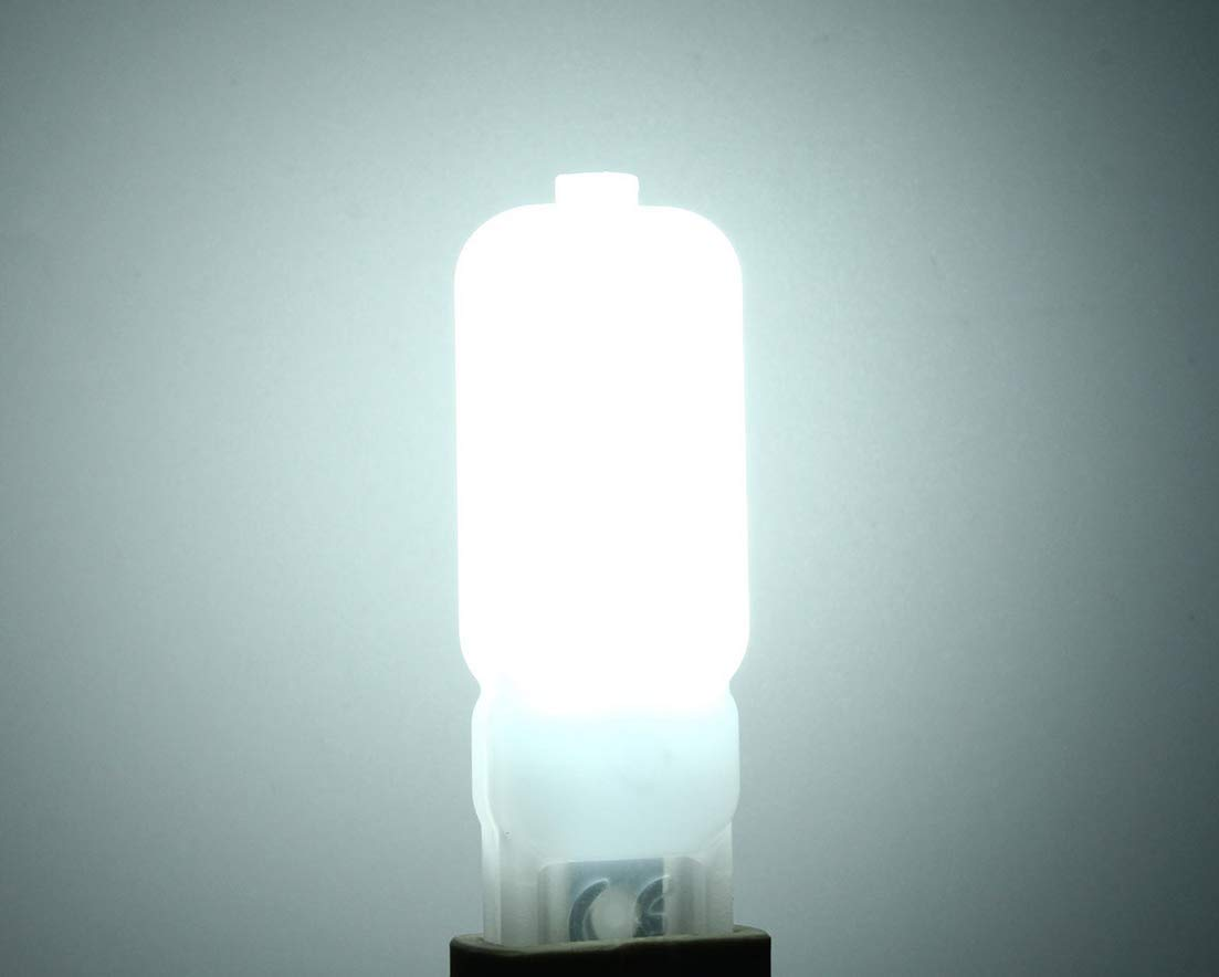,110V,Daylight White 6000K,6 Pack 40W Halogen Equivalent JKLcom G9 LED Light Bulbs Dimmable G9 Frosted Light 5W Dimmable LED Light for Indoor Chandeliers Ceiling Lights,G9 Bi Pin Base,5W