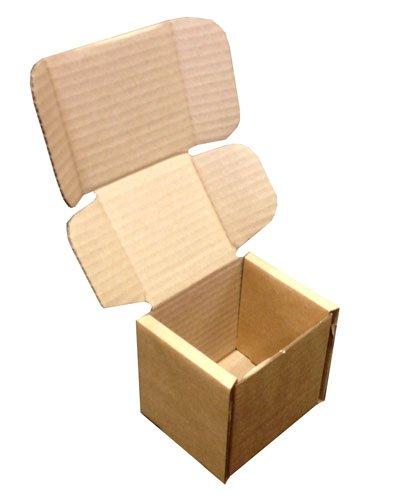 120 mm x 120 mm x 120 mm marrón paquete tamaño plegable embalaje troquelado Post Postal cajas para tazas Qty 50 cartones: Amazon.es: Oficina y papelería