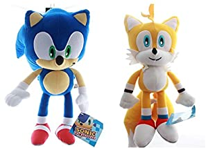 Sonic the Hedgehog Sonic and Tails Plush SET Toy Large